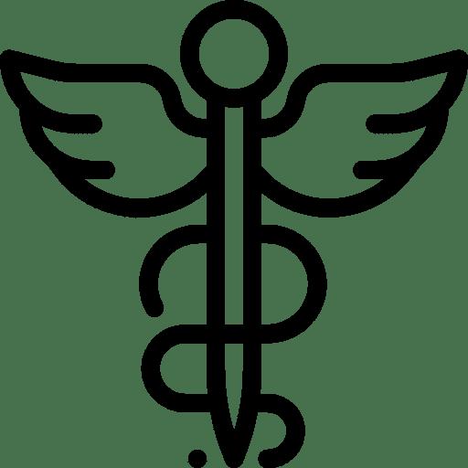 Icon Pharmazie schwarz Adler Apotheke